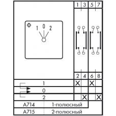 Переключатель CA10 A714-600 EF + F*SFA769