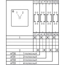 Переключатель CH10-A723-600 *E +S0 V750/A2J/1 +S1D T670 08 +2*S0D T670 01 +S1D T670 96