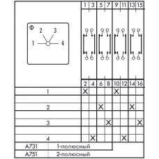 Переключатель CA25B-A731-600 E
