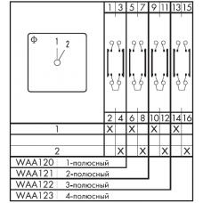 Переключатель CA25-WAA122 E