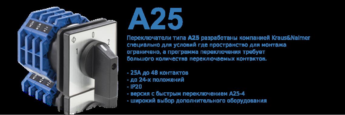 Переключатели A25 для ограниченного по глубине монтажа