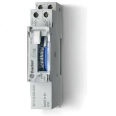 121182300000, Реле времени механическое суточное; монтаж на рейку 35мм; 1NO 16A; питание 230В АC; ширина 17.6мм; резервн.источник питания; степень защиты IP20; упаковка 5 шт.