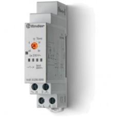 Модульный электронный лестничный таймер 1-функциональный; 1NO 16A; 3- или 4-проводная схема; питание 230В АC; ширина 17.5мм; степень защиты IP20; упаковка 5 шт.