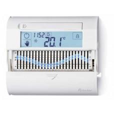 1C6190030101, Комнатный цифровой термостат 'Touch slide' с суточным таймером; сенсорный экран; питание 3В DС; 1СО 5А; монтаж на стену; цвет белый