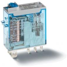 466180120020, Миниатюрное промышленное электромеханическое реле; монтаж в розетку или наконечники Faston (4.8х0.5мм); 1СO 16A; контакты AgNi; катушка 12B АC; влагозащита RTII; опции: мех.индикатор