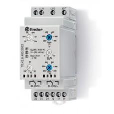 Контрольное реле для 3-фазных сетей; пониженное/повышенное напряжение, обрыв/чередование/асимметрия фаз, контроль нейтрали, настраиваемые диапазоны; выход 2CO 8А; ширина 35мм; степень защиты IP20; упаковка 5 шт.
