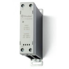 Модульное твердотельное реле; выход 15А (24…280В АС); питание 230В AC; Функция 'Включ.при пересечении нуля'; ширина 22.5мм; клем.реле; степень защиты IP20; упаковка 5 шт.
