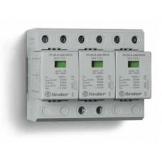 Устройство защиты от импульсных перенапряжений УЗИП тип 1+2 (3 варистор/искровый разрядник); модульный, ширина 108мм; степень защиты IP20; упаковка 1 шт.