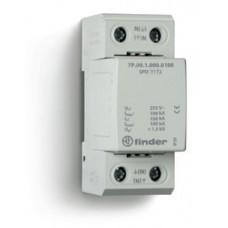 7P0912550100, Устройство защиты от импульсных перенапряжений УЗИП тип 1 (искровый разрядник); модульный, ширина 36мм; степень защиты IP20; упаковка 10 шт.