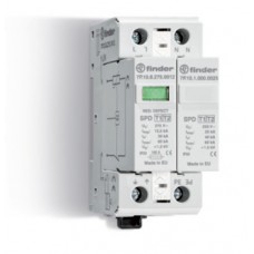 Устройство защиты от импульсных перенапряжений УЗИП тип 1 (1 варистор + 1 искровый разрядник); модульный, ширина 35мм; степень защиты IP20; упаковка 1 шт.