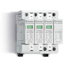 Устройство защиты от импульсных перенапряжений УЗИП тип 1 (3 варистора + 1 искровый разрядник); модульный, ширина 70мм; степень защиты IP20; упаковка 1 шт.