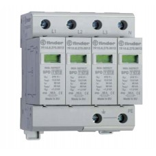 7P1582751012, Устройство защиты от импульсных перенапряжений УЗИП тип 1 (4 варистора); модульный, ширина 70мм; степень защиты IP20; упаковка 1 шт.