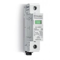 7P2180750015, Устройство защиты от импульсных перенапряжений УЗИП тип 2 (1 варистор); Uc=75В AC; модульный, ширина 17.5мм; без доп.контакта; степень защиты IP20; упаковка 1 шт.