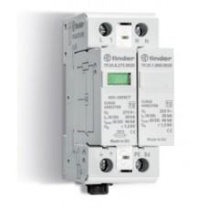 7P2282750020, Устройство защиты от импульсных перенапряжений УЗИП тип 2 (1 варистор + 1 искровый разрядник); модульный, ширина 35мм; без доп.контакта; степень защиты IP20; упаковка 1 шт.