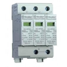 7P2382750020, Устройство защиты от импульсных перенапряжений УЗИП тип 2 (1 варистор); Uc=275В AC; модульный, ширина 17.5мм; без доп.контакта; степень защиты IP20; упаковка 1 шт.