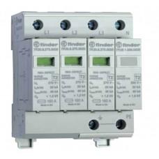 7P2482750020, Устройство защиты от импульсных перенапряжений УЗИП тип 2 (3 варистора + 1 искровый разрядник); модульный, без доп.контакта; степень защиты IP20; упаковка 1 шт.