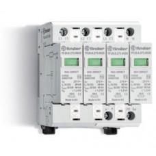 7P2582750020, Устройство защиты от импульсных перенапряжений УЗИП тип 2 (4 варистора); модульный, без доп.контакта; степень защиты IP20; упаковка 1 шт.