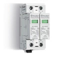 7P2782750020, Устройство защиты от импульсных перенапряжений УЗИП тип 2 (2 варистора); модульный, без доп.контакта; степень защиты IP20