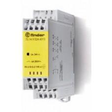 7S1490120220PAS, Модульное электромеханическое реле безопасности (реле с принудительным управлением контактами); 2NO+2NC 6A; контакты AgNi; катушка 12В DC; ширина 22.5мм; степень защиты IP54; упаковка 1шт.; упаковка 1 шт.