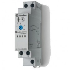Модульный таймер 1-функциональный (AI); питание 24…240В АС-DC; 1CO 16A; ширина 17.5мм; регулировка времени 0.1с…24ч; степень защиты IP20; упаковка 5 шт.