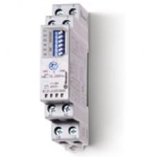 810102300000T, Модульный таймер мультифункциональный (AI, DI, SW, SP, BE, DE, EEb), функции SET, RESET; питание 12…240В АС/DC; 1CO 16A; ширина 17.5мм; регулировка времени 0.1с…10ч; степень защиты IP20; версия для ЖД-транспорта; упаковка 5 шт.