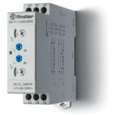 839102400000PAS, Модульный таймер мультифункциональный (LI, LE, PI, PE); питание 24…240В АС/DC; 1CO 16A; ширина 22.5мм; регулировка времени 0.05с…10дней; степень защиты IP20; упаковка 1шт. ; упаковка 1 шт.