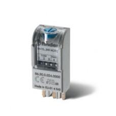863081200000PAS, Таймерный модуль 2-функциональный (AI,DI); для применения с реле, монтаж в розетку; питание 110…125В AC; регулировка времени 0.05с...100ч; степень защиты IP20; упаковка 1шт. ; упаковка 1 шт.