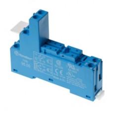 9505SPA, Розетка с винтовыми клеммами (с зажимной клетью) для реле 40.51, 40.52, 40.61, 44.52, 44.62; применяются модули 99.02, 86.03; в комплекте пластиковая клипса 095.01; версия: синий цвет; упаковка 10 шт.