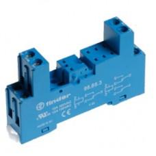 95833SMA, Розетка с винтовыми клеммами (с зажимной клетью) для реле 40.31; применяются модули 99.80; в комплекте металлическая клипса 095.71; версия: синий цвет; упаковка 10 шт.
