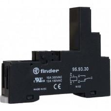 959330SPA, Розетка с винтовыми клеммами (с зажимной клетью) для реле 40.31; применяются модули 99.80; в комплекте пластиковая клипса 095.91.3; версия: черный цвет (заказ минимум/кратно 1000шт); упаковка 10 шт.