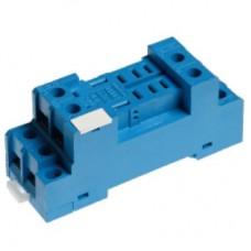 9672SMA, Розетка с винтовыми клеммами (под шайбу) для реле 56.32; в комплекте металлическая клипса 094.71; версия: синий цвет; упаковка 10 шт.