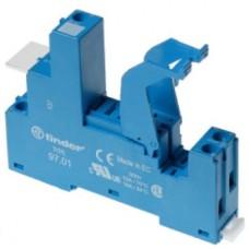 97027SMA, Розетка с винтовыми клеммами (с зажимной клетью) для реле 46.52; применяются модули 86.30, 99.02; в комплекте металлическая клипса 097.71; версия: синий цвет; упаковка 10 шт.