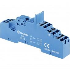 97P2SPA, Розетка с безвинтовыми клеммами Push-in для реле 46.52; применяются модули 86.30, 99.02; в комплекте пластиковая клипса 097.01; версия: синий цвет