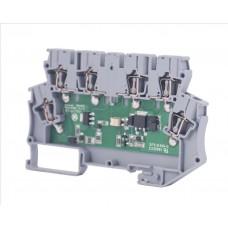 110210, Клеммник 2-х ярусный с электронными компонентами (схема 17); WG-EKI (упак 20 шт)