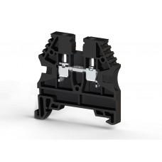 304125RP, Клеммник на DIN-рейку 2,5мм.кв. (черный); AVK2,5(RP) (упак 100 шт)