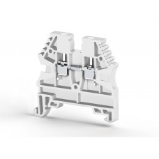 304126RP, Клеммник на DIN-рейку 2,5мм.кв. (белый); AVK2,5(RP) (упак 100 шт)