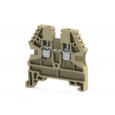 304129RP, Клеммник на DIN-рейку 2,5мм.кв. (бежевый); AVK2,5(RP) (упак 100 шт)
