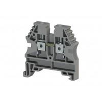 304130, Клеммник на DIN-рейку 4мм.кв. (серый); AVK4 (упак 100 шт)