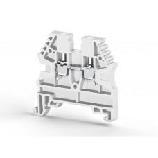 304136, Клеммник на DIN-рейку 4мм.кв. (белый); AVK4 (упак 100 шт)