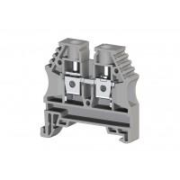 304140, Клеммник на DIN-рейку 6мм.кв. (серый); AVK6 (упак 100 шт)