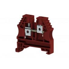 304144, Клеммник на DIN-рейку 6мм.кв. (красный); AVK6 (упак 100 шт)