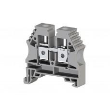 304150, Клеммник на DIN-рейку 10мм.кв. (серый); AVK10 (упак 100 шт)