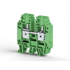 304242, AVK16 RD Клеммник на DIN-рейку 16мм.кв. (зеленый); (упак 50 шт)