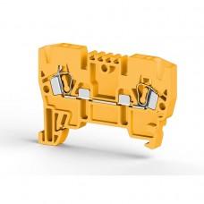 306223, Клеммник пружинный 2,5мм.кв. (жёлтый); YBK2,5  (упак 100 шт)