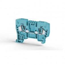 306231, Клеммник пружинный 4мм.кв. (синий); YBK4  (упак 100 шт)