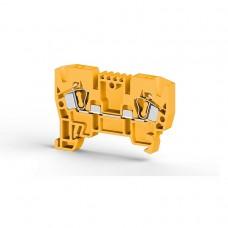 306233, Клеммник пружинный 4мм.кв. (желтый); YBK4  (упак 100 шт)