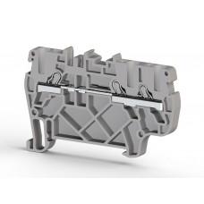 307439, Клеммник пружинный быстрозажимной (Push in), 3-х выводной, 2,5мм.кв., (серый); PYK 2,5E (упак 50 шт)