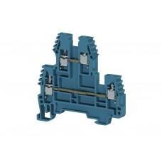 317101, Клеммник 2-х ярусный, 2,5мм.кв. (синий);  PIK2,5N (упак 100 шт)
