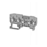 326059, Клеммник пружинный 3-х выводной, 2,5 мм.кв., (серый); YBK 2,5E (упак 50 шт)