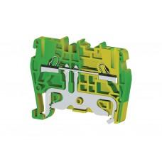 336500, Клеммник пружинный быстрозажимной (Push in), 2,5 мм.кв., (земля); PYK2,5T (упак 50 шт)